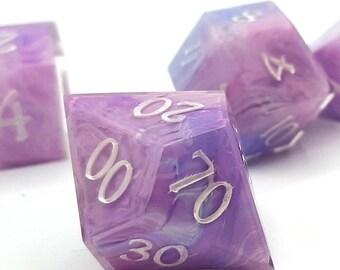 Seraphite | Sharp Edge 7 piece polyhedral DnD ttrpg dice