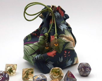 Lunar Moths - Small Bag For Dice, Crystals, or Jewelry