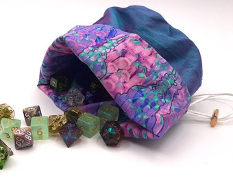 Dusklit Flowers - Medium Bag For Dice, Crystals, or Jewelry