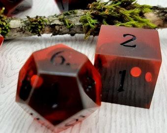 Mothman | Sharp Edge 7 piece polyhedral DnD ttrpg dice