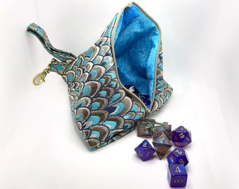 The Osiris - Medium Pyramid Bag With Clip for Dice, Crystals, or Jewelry