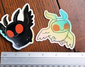 Mothman Stickers! Holographic vinyl 3 inch