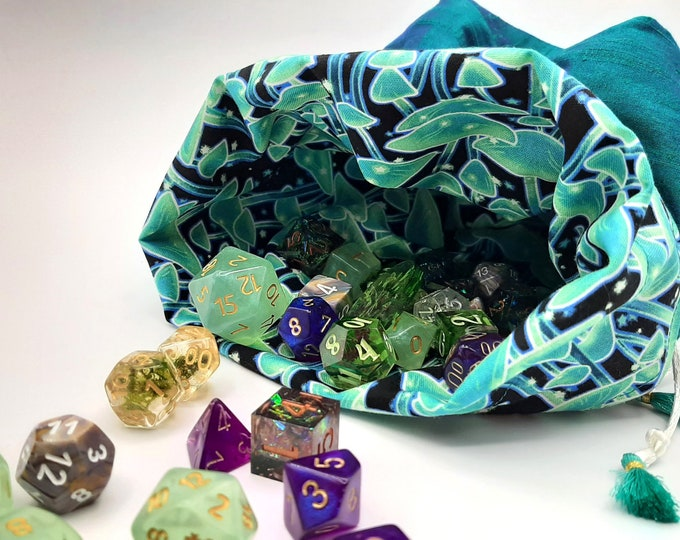 Featured listing image: Luminescent Grove - Medium Bag For Dice, Crystals, or Jewelry