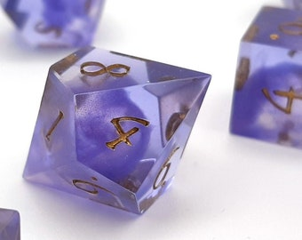 Fairy dust | Sharp Edge 7 piece polyhedral DnD ttrpg dice