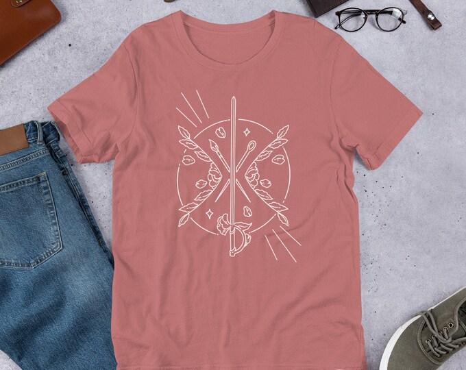Featured listing image: Calamity Crest -  White Logo Short-Sleeve Unisex T-Shirt