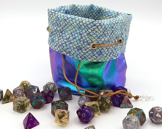 Featured listing image: The Siren - Medium Bag With Pockets For Dice, Crystals, or jewelry