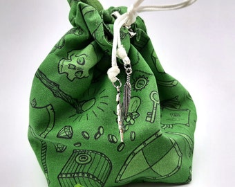 Adventurer's Purse - Small Bag For Dice, Crystals, or Jewelry