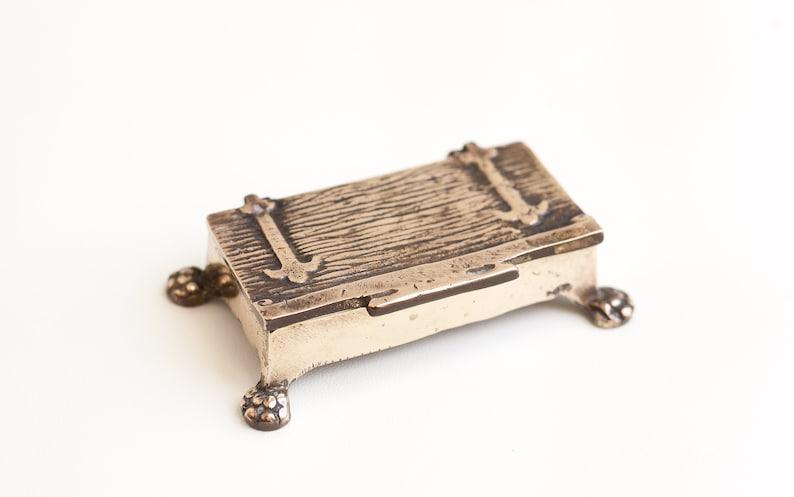brass matches treasure Jewelry vintage storage jewelry box jewelry display box treasure chest box stamps jewel box brass