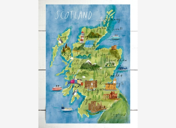 This is an image of Printable Map of Scotland intended for tartan map