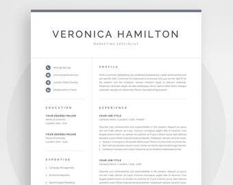 professional resume template modern resume template for word instant download 1 and 2 - Resume Templates For Mac