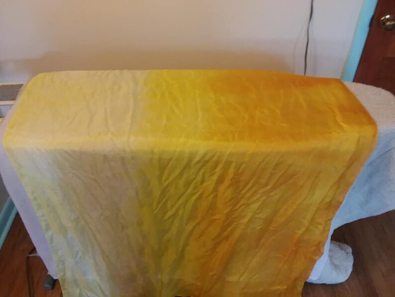 Sunshine: tan to bright yellow to pale yellow bellydance silk image 0