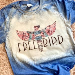 Serape Tongue t-shirt Rock and roll Bleached T-shirt,cowhide Bleached t-shirt,Country t-shirt,Bleach Dye t-shirt