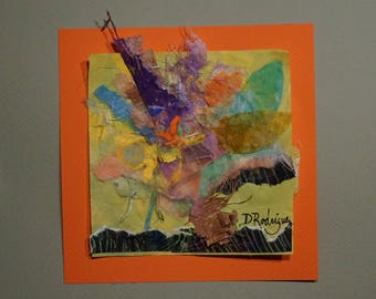 A Burst of Color - rice paper, handmade paper painted with watercolors