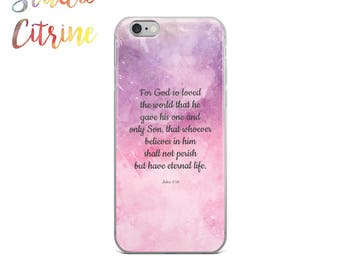 For God So Loved the World, Bible Verse Phone Case, Bible Quote Phone Case, Scripture Phone Case, Scripture iPhone Case, John 3:16