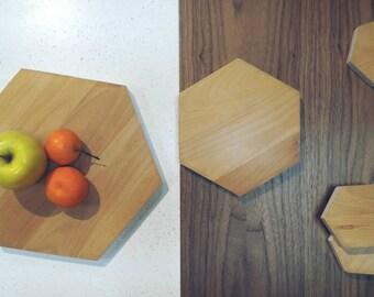 Wooden Chopping Board mod. ESA-Evaporated beech-handmade-handmade-gift idea