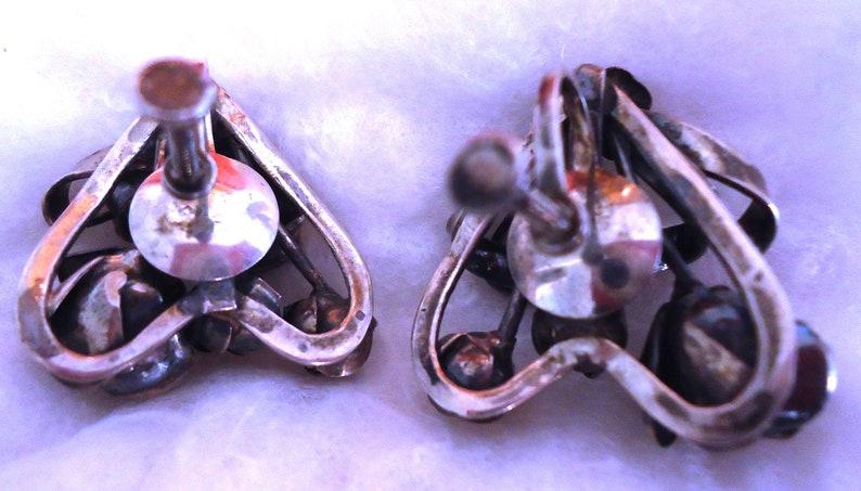 Hobe Vintage Brooch and Earring Set Sterling Silver