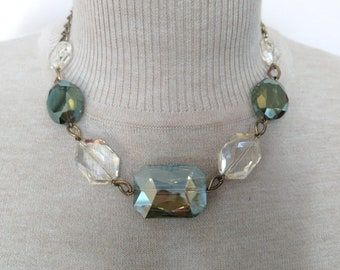Olivine & Champagne Necklace
