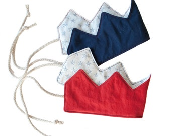 Red, White and Blue Patriotic Crowns