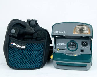 POLAROID - One Step Express - Green with Original Carry Bag  WORKING