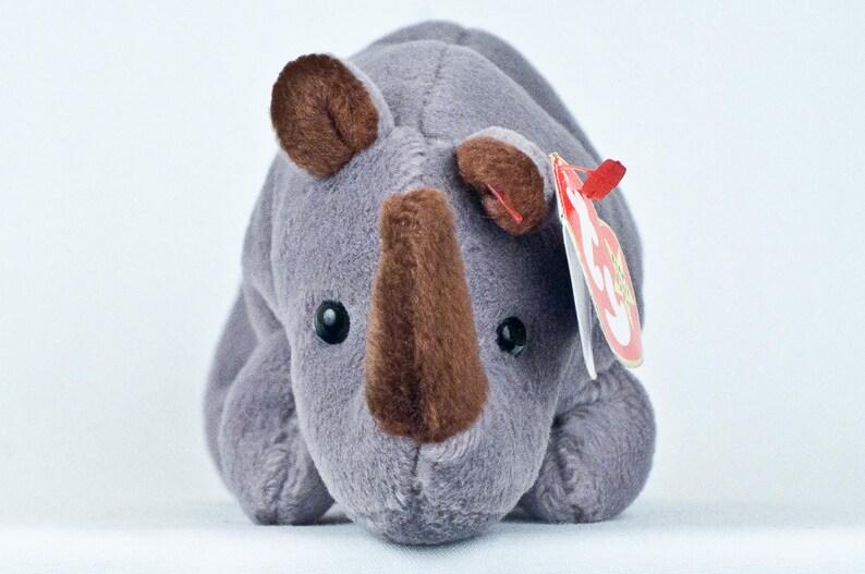 a4fb64ce5fb SPIKE 4060 Gray Rhino ORIGINAL ty Beanie Babies Heart-Tush
