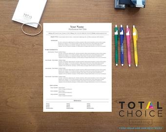 Custom Designed Resume Digital File Only