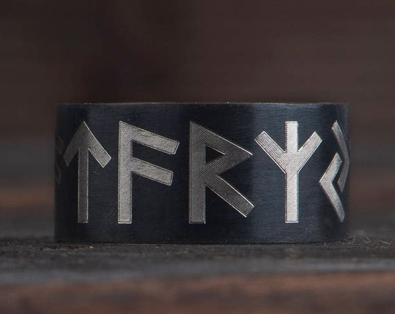 Viking ring, Rune ring, Nordic ring, Viking rune ring, Runenring, Futhark ring, Norse pagan ring, Name rune, Nordic rune jewelry,