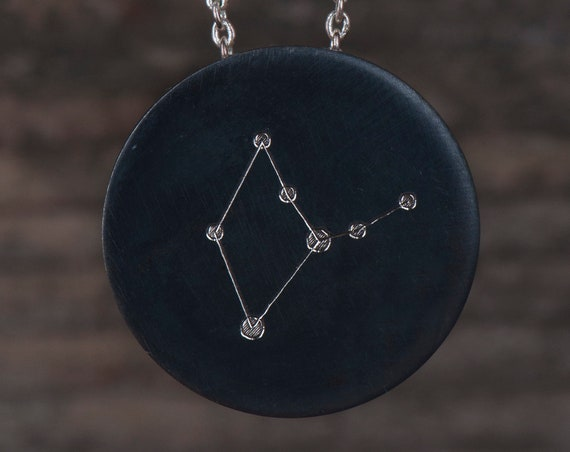 Zodiac constellation necklace, Astrology necklace, Astrological sign necklace, Personalized birthstone necklace