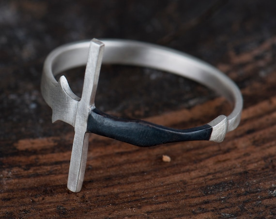 Sword Ring, Fencing Jewelry, Federschwert