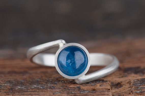 Kyanite ring, Minimalist Ring, Simple Ring, Rings For Women, Promise Ring, Statement Ring, Taurus Birthstone