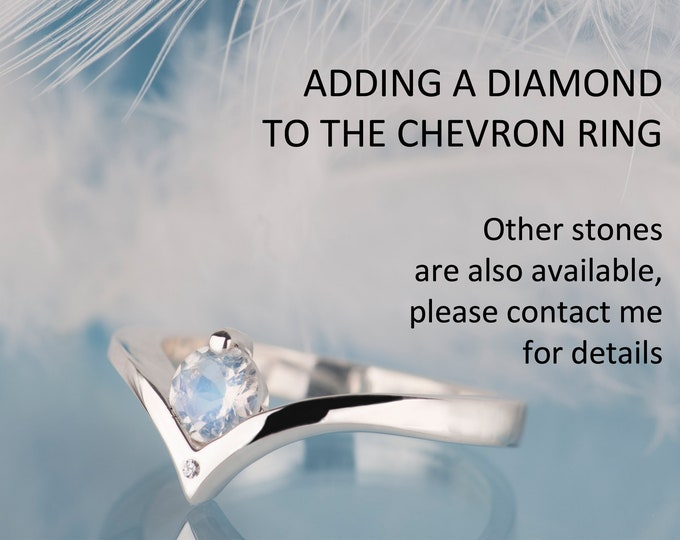Adding a diamond to the chevron ring