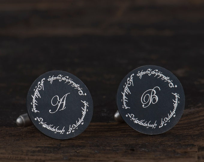LOTR cufflinks, One ring to rule them all, Lord of the Rings wedding, Custom LOTR cufflinks, Personalized Lod of the Rings cufflinks
