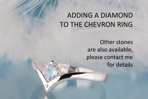 Adding a diamond to the chevron ring