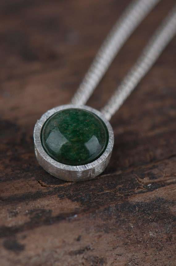 Tiny aventurine necklace, Dainty lucky necklace