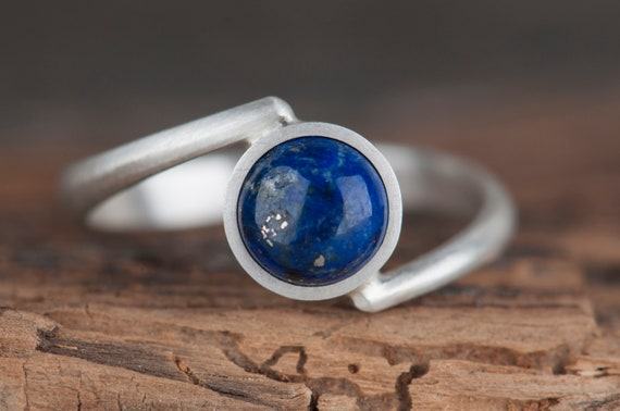 Lapis Lazuli Ring, Lapis Lazuli Jewelry, Minimalist Ring, Lapis Ring, September Birthstone Ring, Dainty Ring, Rings For Women, Boho Ring