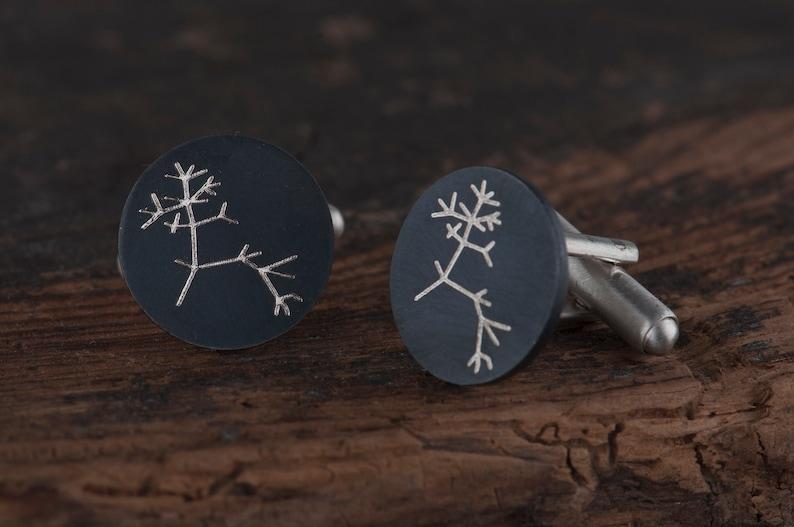 Graduation gift for men Geek science cufflinks Darwin tree of life cufflinks