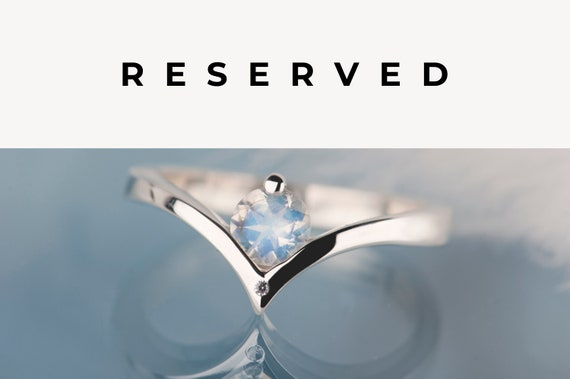 RESERVED! Moonstone and diamond ring 2/3