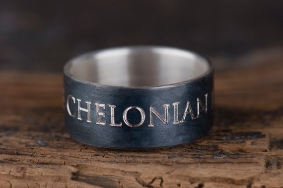 Quote promise ring for him, Alternative men's engagement ring, Anniversary gift for husband, Best friend gift idea, Gift for boyfriend
