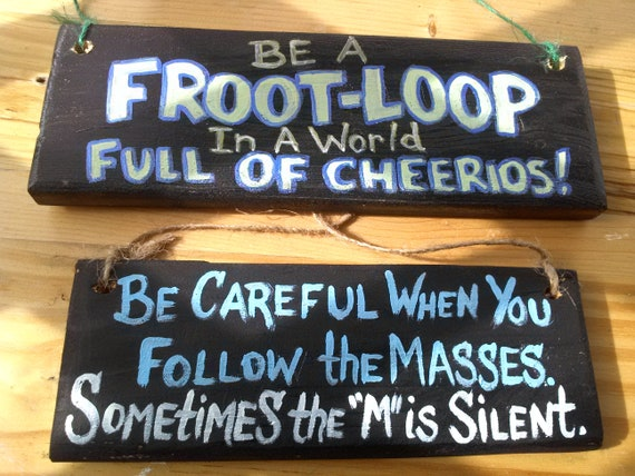 M Silent In Masses Funny Wood Sign Be Careful Kitchen Saying Etsy