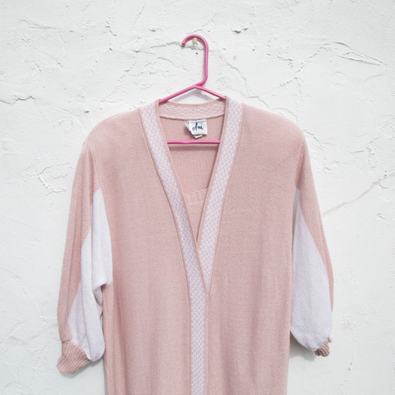 vintage | 80's twin peaks | pink + white | sweate… - image 2
