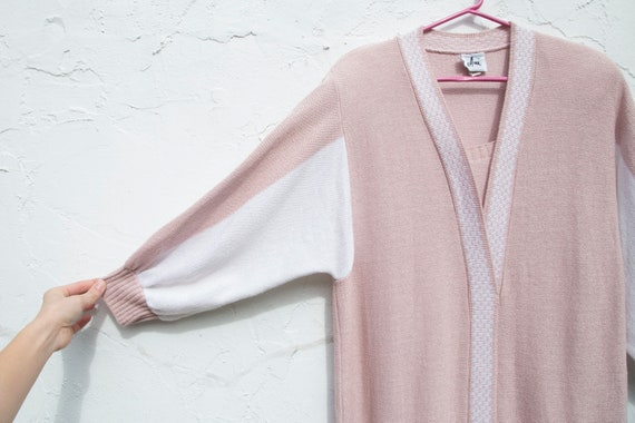 vintage | 80's twin peaks | pink + white | sweate… - image 4