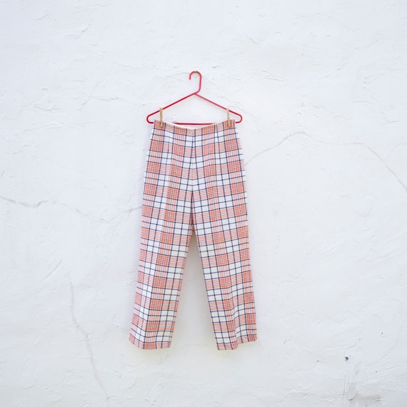 vintage | plaid pants | 70s | sz