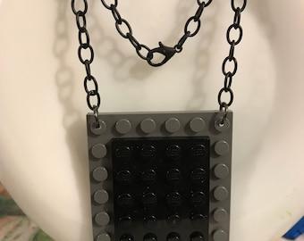 Black & Gray LEGO Necklace