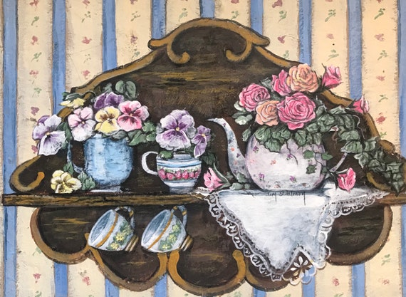 Teapots and Pansies