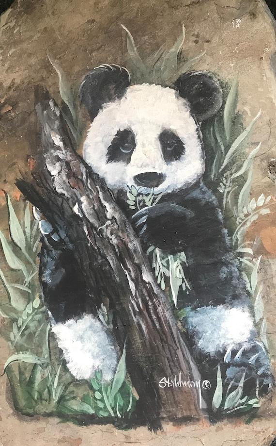Asian Panda Bear wall Hanging Wildlife, Bamboo, Exotic