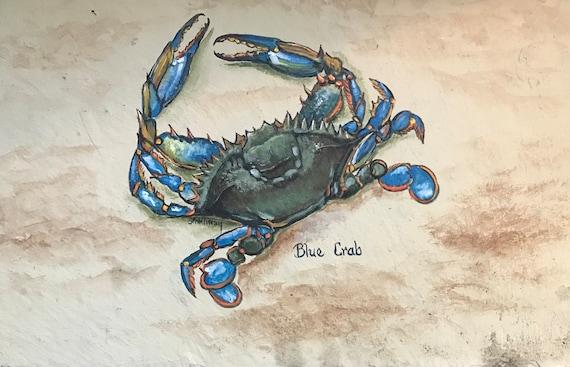 Wall Hanging, Blue Crab, Chesapeake Nautical