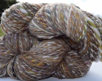 Hand spun wool skeins x 2