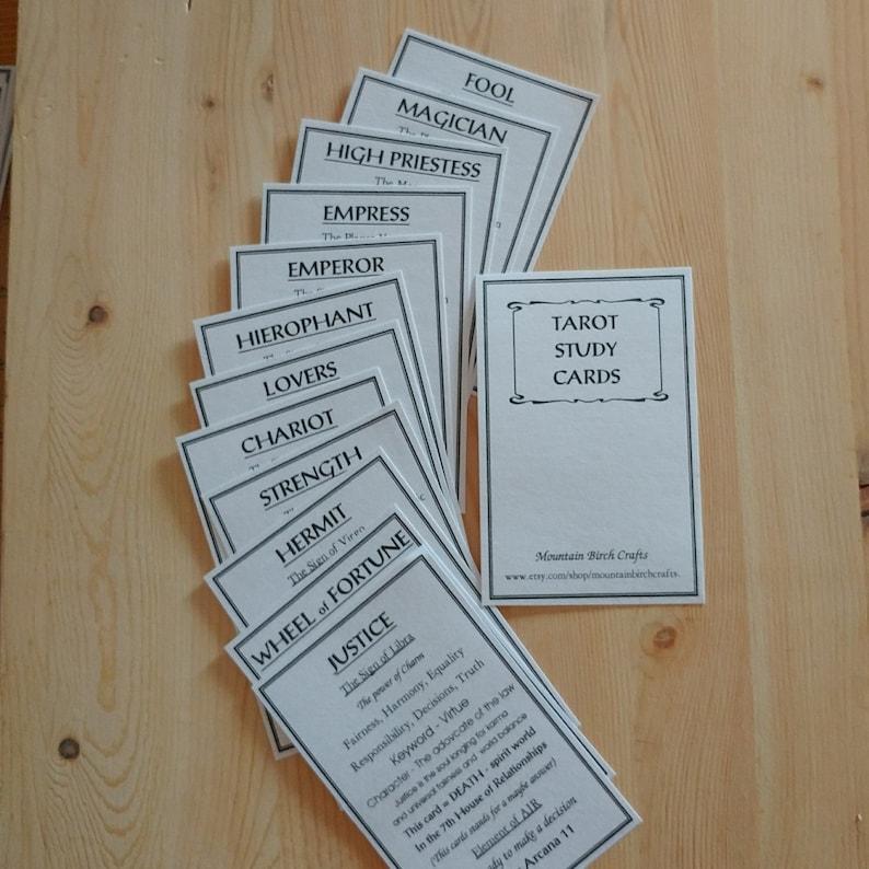 TAROT STUDY Cards - Tarot Information Cards - Tarot beginners - Learning  Tarot - Tarot Cards - Meaning of Tarot - Tarot cards for beginners
