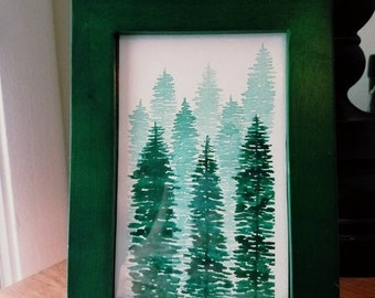 Framed Original Watercolor