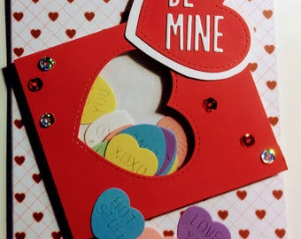 Be Mine Conversation Hearts Valentine Greeting Card