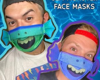 Sea Monster Face Masks - Bad Juju Mask - Film Inspired face mask